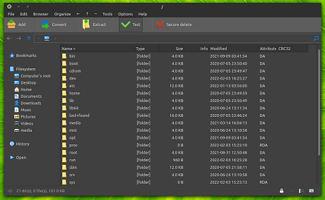 PeaZip for Linux full screenshot