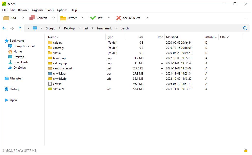 Peazip Free Archiver Utility Open Extract Rar Tar Zip Files