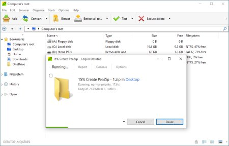 Extract Rar files, free Zip Unzip software
